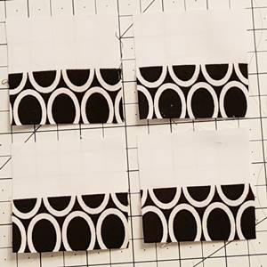 churn dash quilt block pattern Step 2b