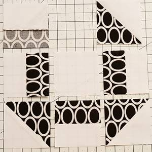 churn dash quilt block pattern Step 5a