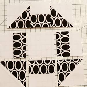 churn dash quilt block pattern Step 5d