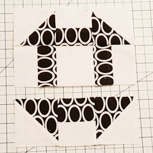 churn dash quilt block pattern Step 8b