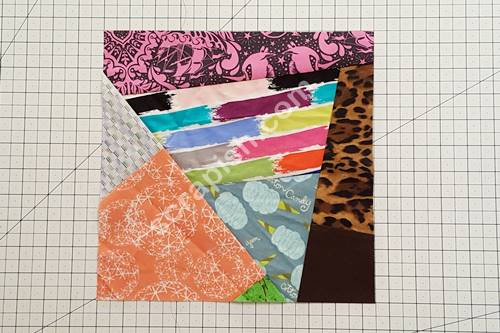 Finished crazy quilt block.