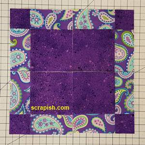 Disappearing Nine Patch Quilt Block Step 5 Layout 1