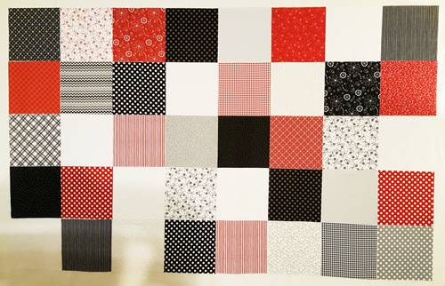 easy quilt pattern panel 1