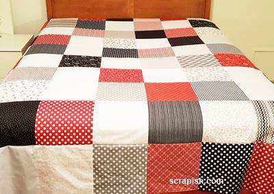 easy quilt pattern completed quilt top