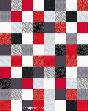 easy quilt pattern made with 10 inch precut squares