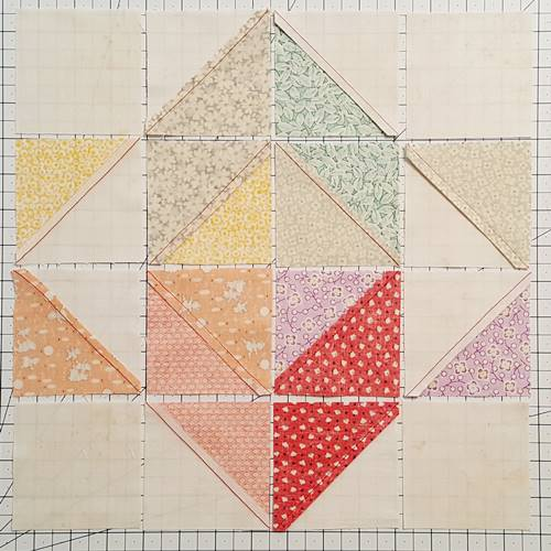 Step 9 Eight Point Star Quilt Block: Press the seams.