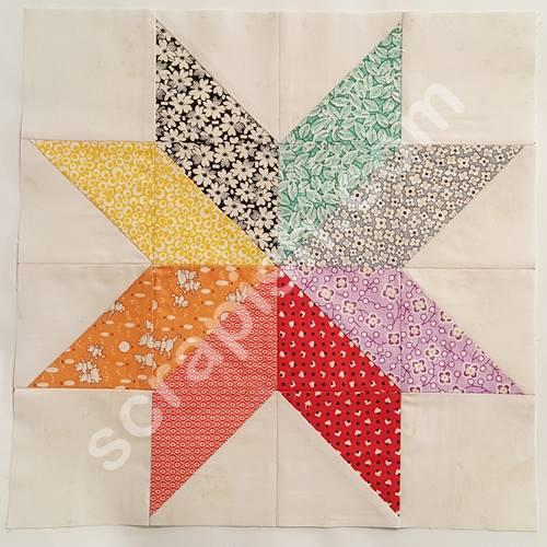 Eight Point Star Quilt Block