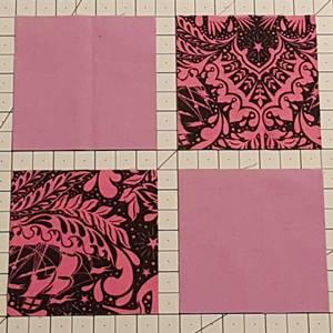 Four Patch Quilt Block Step 1