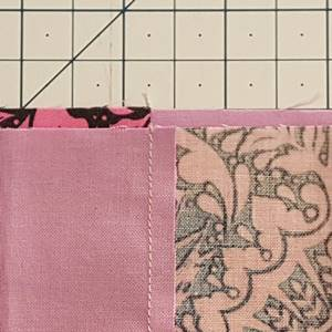 Four Patch Quilt Block Step 3c Closeup