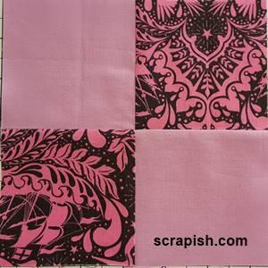 Four Patch Quilt Block Pattern
