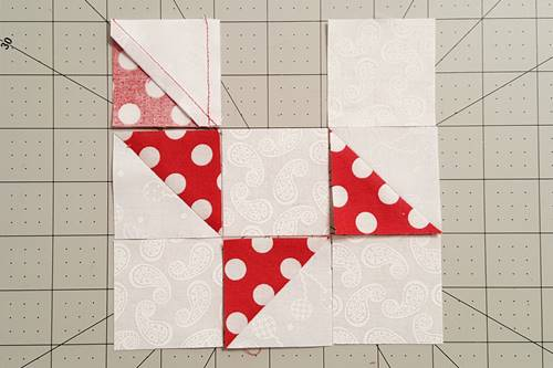 Step 4a Friendship Star Quilt Block
