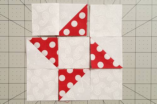 Step 4b Friendship Star Quilt Block