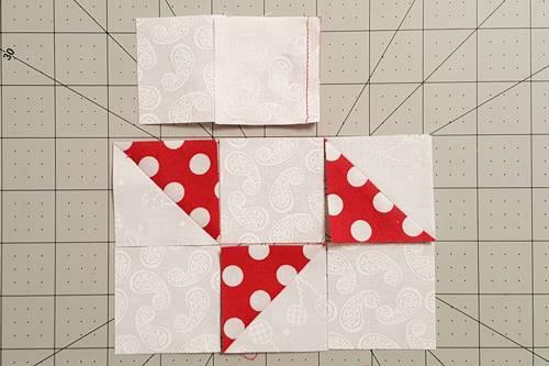 Step 4c Friendship Star Quilt Block