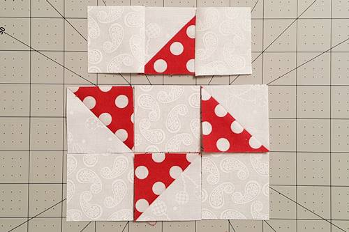 Step 4d Friendship Star Quilt Block