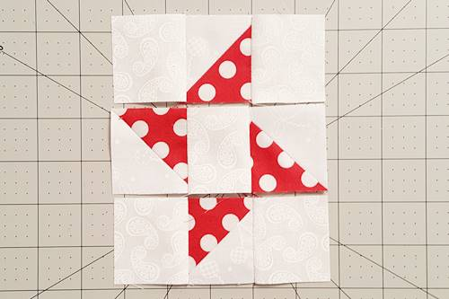 Steps 5 and 6 Friendship Star Quilt Block