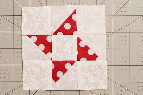 Step 9 Friendship Star Quilt Block