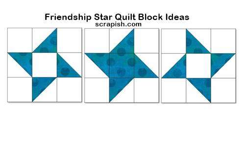 friendship star quilt block ideas