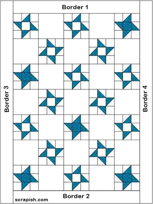 Friendship Star Quilt Pattern Quilt Assembly Diagram