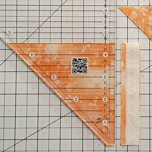 Step 5 Half square triangle ruler: remove selvage edges