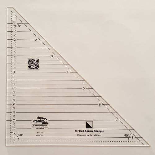 Half Square Triangle Ruler