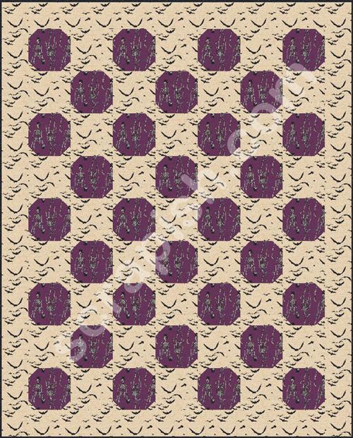 Halloween Snowball Quilt Pattern Idea