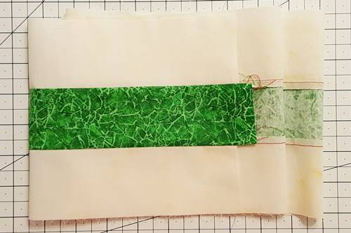Step 2b Irish Chain Quilt Block: Make strip set B.