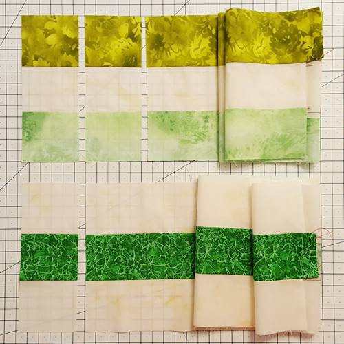Step 3b Irish Chain Quilt Block: Make all subcuts.