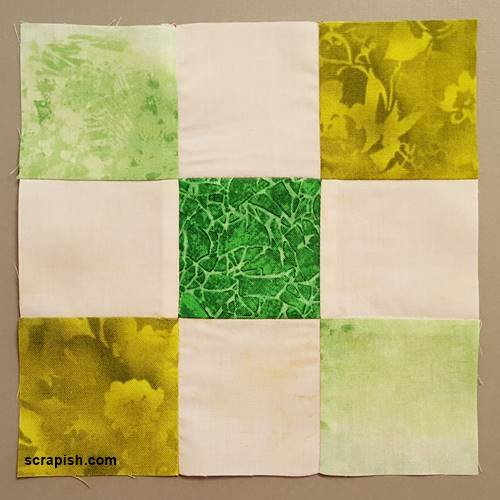Single Irish Chain Quilt Block Pattern