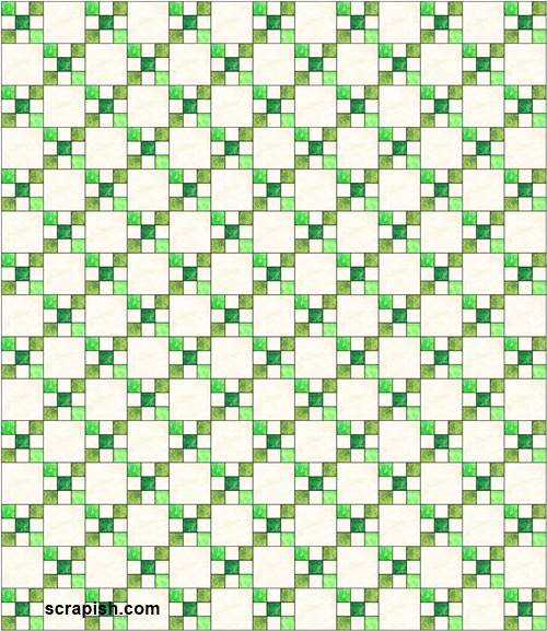Irish Chain Quilt Pattern quilt assembly diagram