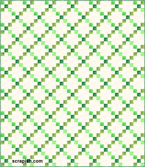 single Irish chain quilt pattern