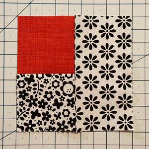 Log Cabin Quilt Block Step 4c