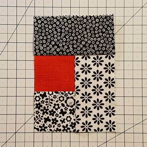Log Cabin Quilt Block Step 4e