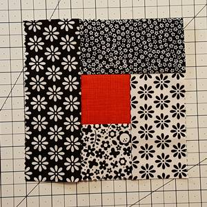 Log Cabin Quilt Block Step 4g