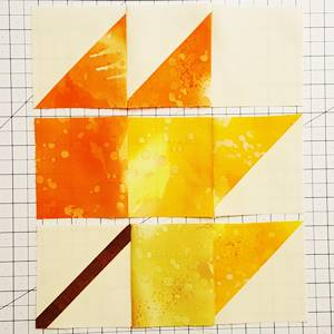 maple leaf quilt block pattern Step 5c, d