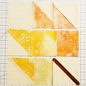 maple leaf quilt block pattern Step 6