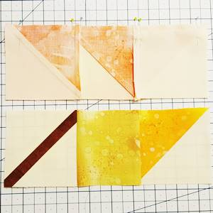 maple leaf quilt block pattern Step 7a