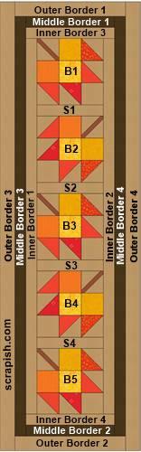 maple leaf quilt pattern quilt assembly diagram