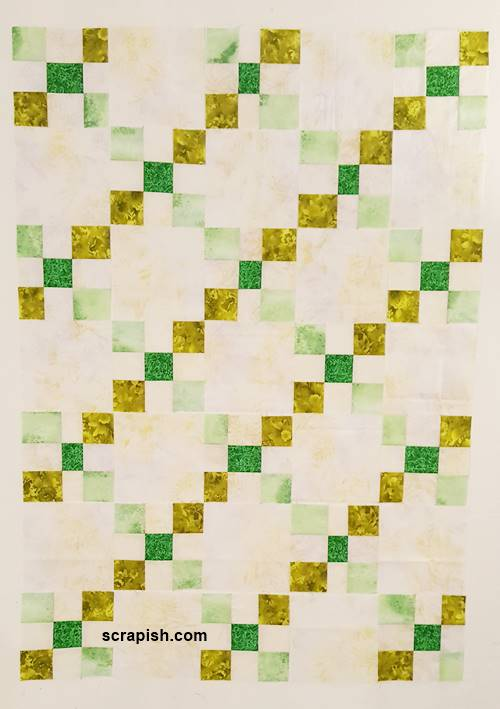 Modern Single Irish Chain Quilt Pattern