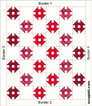 monkey wrench quilt pattern quilt assembly diagram