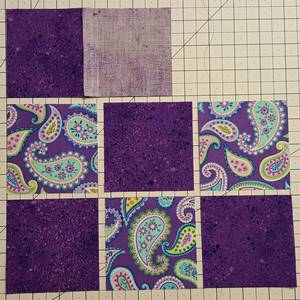Nine Patch Quilt Block Pattern Step 2d