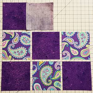 Nine Patch Quilt Block Pattern Step 2e
