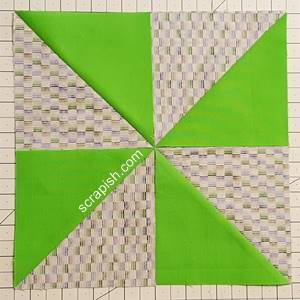 Step 2 Pinwheel Quilt Block Pattern: choose how to layout your block.