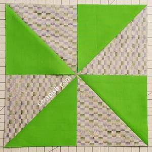 Step 2 Pinwheel Quilt Block Pattern: choose how to layout your block. Alternative 2.