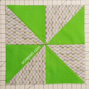 pinwheel quilt block pattern Step 5