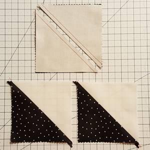 pinwheel quilt pattern Step 2c