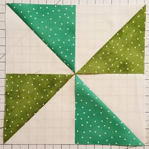pinwheel quilt pattern Step 3a Block 2