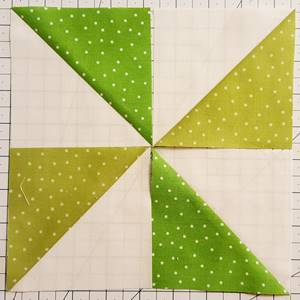 pinwheel quilt pattern Step 3a Block 3