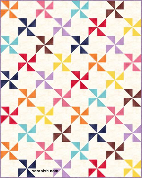 pinwheel quilt pattern