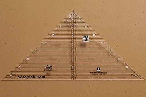 Picture of a quarter square triangle ruler