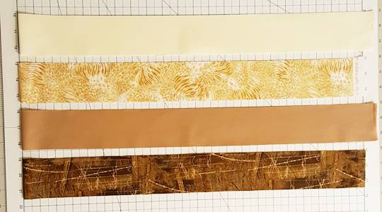 Rail Fence Quilt Block Step 1